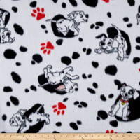 Disney Fleece 101 Dalmations White