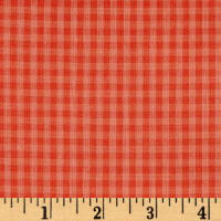 Cloud 9 Organic Yarn Dyed Gingham Check Coral/Salmon