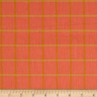 Cloud 9 Orangic Yarn Dye Shirting Plaid Salmon/Amber
