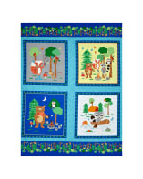 "Camping Club 36"" Panel Blue"