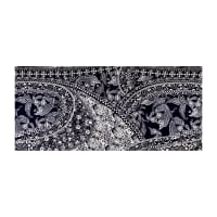ITY Stretch Knit Paisley Resort Wear Navy White