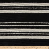 Mesh Knit Black/Ivory Stripes