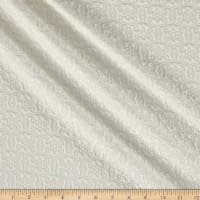 Quilted Knit Vector Star and Fleur White