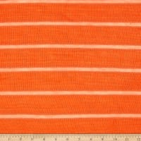 Lightweight Sweater Knit Stripe Orange