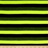 Jersey Knit Stripe Black/Neon Yellow/Gray
