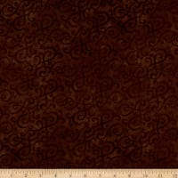 Flannel Scroll Brown