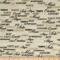 Kanvas The Music In Me Symphony of Words Beige