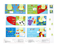 "Huggable & Loveable Whooo Loves you Soft Book 35.5"" Panel Multi"