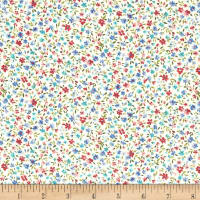 Kaufman Sevenberry Bouquet Med Flower Blue