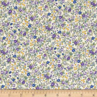 Kaufman Sevenberry Bouquet Large Flower Purple