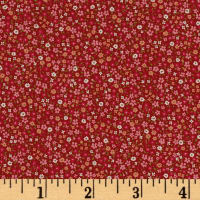 Kaufman Sevenberry Petite Garden Tiny Flower Red