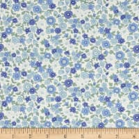 Kaufman Sevenberry Petite Garden Med Flower Spray Blue
