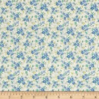 Kaufman Sevenberry Petite Garden Tiny Buds Blue