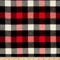 Kaufman Tahoe Flannel Plaids 7.2 Oz Double Brushed Small Buffalo Red