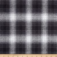 Kaufman Mammoth Flannel Plaids Charcoal