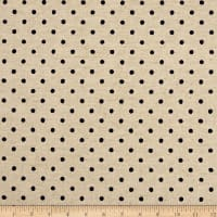 Kaufman Sevenberry Canvas Natural Dots Small Navy