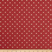 Kaufman Sevenberry Canvas Natural Dots Small Rose