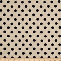 Kaufman Sevenberry Canvas Natural Dots Large Navy