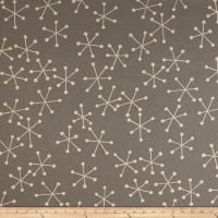 Kaufman Sevenberry Canvas Cotton Flax Prints Geo Grey