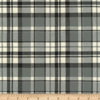 Kaufman Grizzly Plaids 6.6 Oz Twill Plaid Med Plaid Charcoal