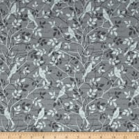 Songbird Tonal Birds & Leaves Grey