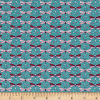 Daydream Small Dragonflies Teal