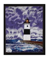 "Lighthouse Wonders Stormy Lighthouse 35.5"" Panel"