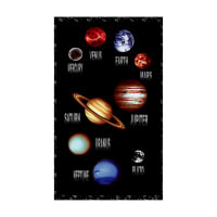 "Cosmic Space Planet Panel 23.5"" Black"