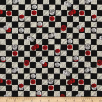 Game Night Checkers Black