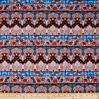 Rayon Challis Solvang Orange