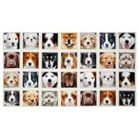 "Adorable Pets Dogs 23"" Panel Cream"
