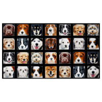 "Adorable Pets Dogs 23.5"" Panel Black"