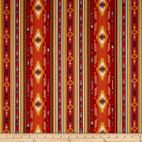 Native Spirit Arrow Feather Stripe Terracotta