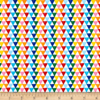 Riley Blake Colorfully Creative Jersey Knit Crayola Triangle Multi