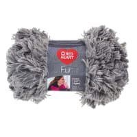 Red Heart Fur Yarn, Smoke
