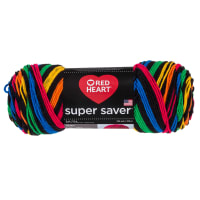 Red Heart Super Saver Primary Stripes