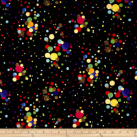 It's My Party Metallic Scattered Dots Rainbow Gold