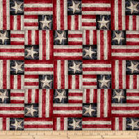 American Homecoming Flag Patchwork Vintage