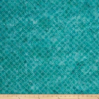 Timeless Treasures Tonga Batik Surf Dot Party Teal