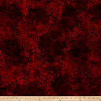Malam Batiks Tulips Red Orange