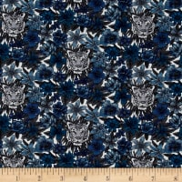 Liberty Fabrics Scotty's Tiger Lawn Teal/Blue