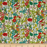 Liberty Fabrics Flowers Lawn Cream/Multi