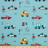 Avalana Jersey Knit Vehicles Turquoise
