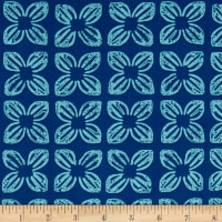 Michael Miller Seedlings 2 Block Flower Slate