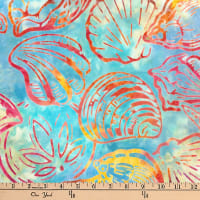 Kaufman Artisan Batiks Totally Tropical Shells Rainbow