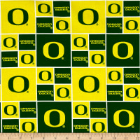 NCAA Oregon Ducks Broadcloth Yellow