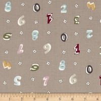 Count on Me Numbers & Flowers Beige