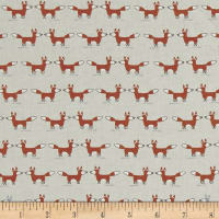 Woodie Winterland Foxes Beige