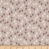Woodie Winterland Paw Prints Mauve