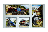 "A Ticket To Ride Train 24"" Panel Multi"